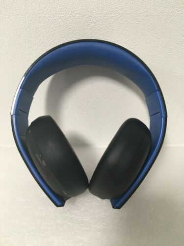 Sony PS Gold CECHYA-0083 Headset for PS3 & 4(Blue/Black) NO Wireless USB dongle