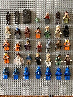 Lego Star Wars lot of 35 minifigures. 100% lego.