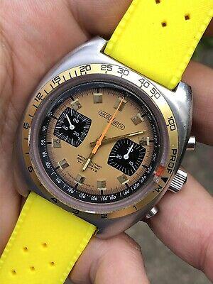 1970s Vintage Armand Nicolet Depth Gauge Chronograph Mens Watch 42mm Valjoux