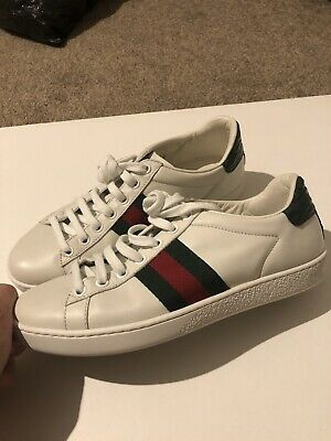 Gucci Ace Low Designer Sneakers Trainers Leather Uk 2 Size 35 Unisex Mens Womens
