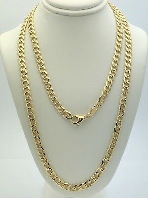 """14k Yellow Gold Cuban Link Chain Necklace 30"""" 5.9mm 42.3 grams"""