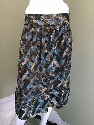 Tape Measure Women's Vintage Multi-Colored  Pleated Skirts~Size 16 Multi Pleat Tape