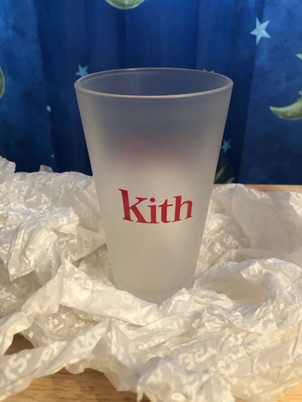 Kith x Coca-Cola Frosted Glass Cup 2019 Instore Only New