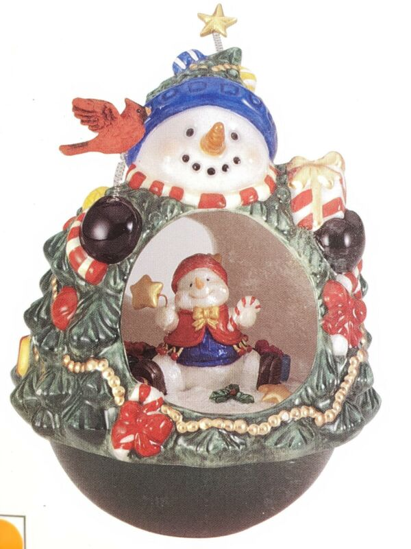 Vintage Roly Poly SNOWMAN JC PENNY Christmas Roly Tumbler #8516