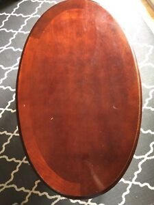 Solid wood oval coffee table