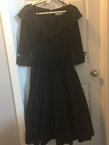 Size 14 black cocktail dress