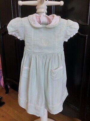 Baby Dior Seafoam Girls Linen Dress 18M EUC