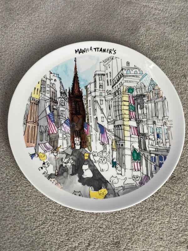 "MIKASA 10.8"" Collectable Plate MANHATTANER"