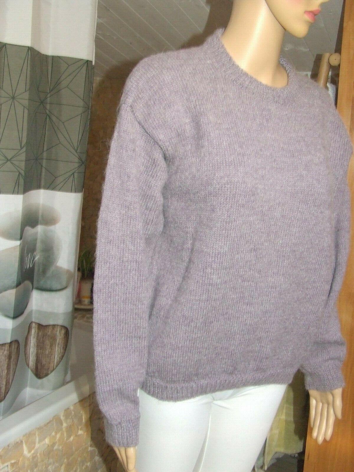 Superbe pull  tricoté main  mohair / laine phildar  taille 42 / 44 parfait état