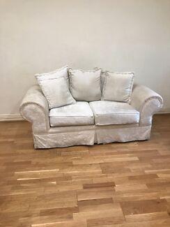 FREE 2 seater fabric lounge x2