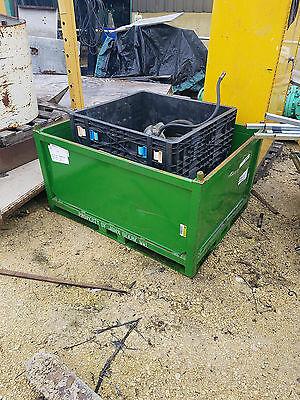 48 X 36 X 20 Deep Green Metal Storage Bin