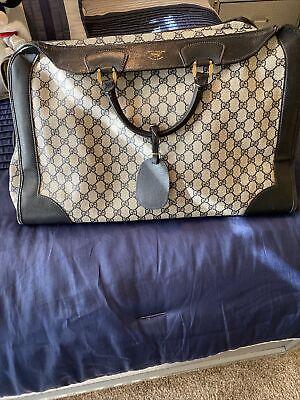 """Authentic Gucci GG Monogram Weekend Bag- 15"""" H x 21"""" L x 5"""" D- Vintage!"""