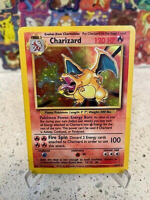 CHARIZARD Base Set 4/102 Holo Rare Pokemon Card 1999 Vintage!!! RED INK! RARE!