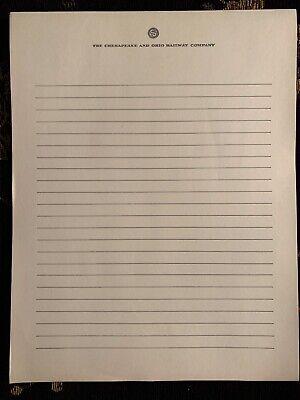 Vintage Co Railway Letterhead Legal Pad 100 Sheets
