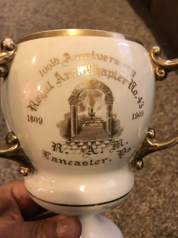 Loving Cup Masonic Royal Arch Chapter No. 43 1809 1909 100th Lancaster PA rare