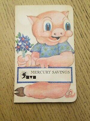 VINTAGE 1970s Mercury Savings Bank Quarter Coin Saver Book Huntington Beach CA , used for sale  Corona