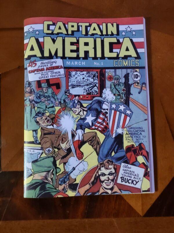 Captain America Comics # 1 1941 Golden Age Replica Edition ☆☆☆☆