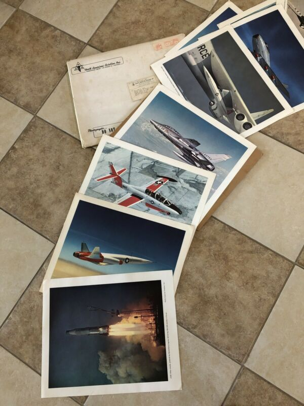 1960 NORTH AMERICAN AVIATION PORTFOLIO PHOTO PRINTS ROCKETS AIRPLANES Qty 13