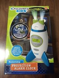 Sky Companies 1646678 Discovery Kids Projection Rocketship Alarm Clock (White)