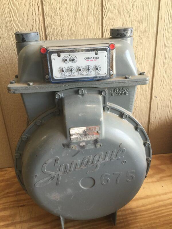 sprague 676 gas meter