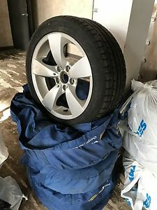 BMW winter tires on original mags 235/45/17