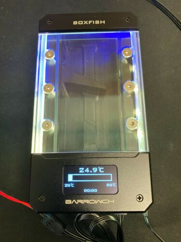 Barrowch 150mm Boxfish Series POM Box Reservoir with OLED Display & D-RGB LED -