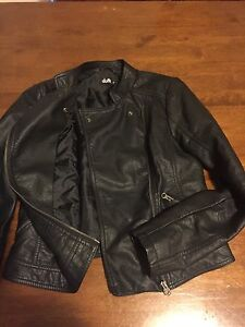 Leather look bikers jacket Doubleview Stirling Area Preview