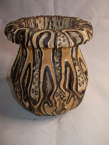 New Zealand PONGA VASE Unique Rare Hand Crafted UNREAL One Of A KIND -7