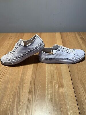 Mens/Unisex Converse White Leather Jack Purcell's Size UK 10 for sale  Shipping to Ireland
