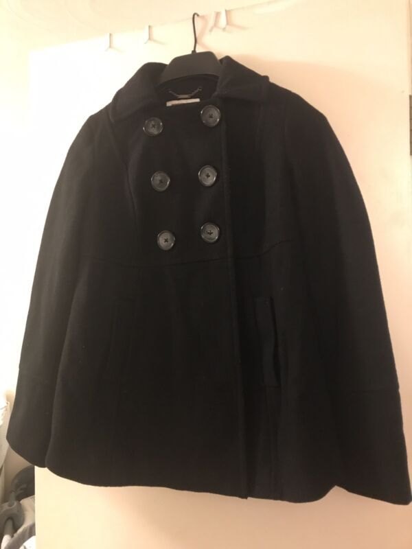 Liz Lange Maternity Coat Peacoat Black XS