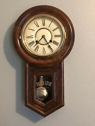 Vintage Regulator A Schoolhouse Style Wall Clock ~ Beautiful!