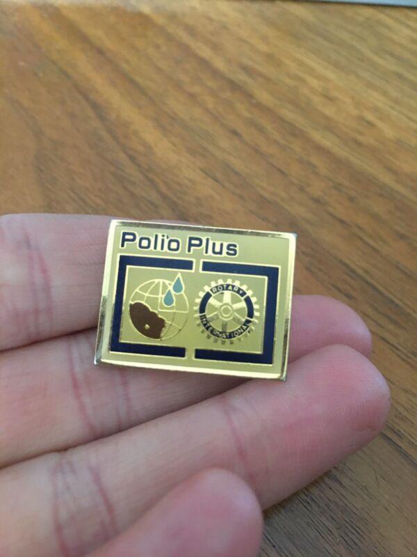 Rotary International Polio Plus Pin PinBack