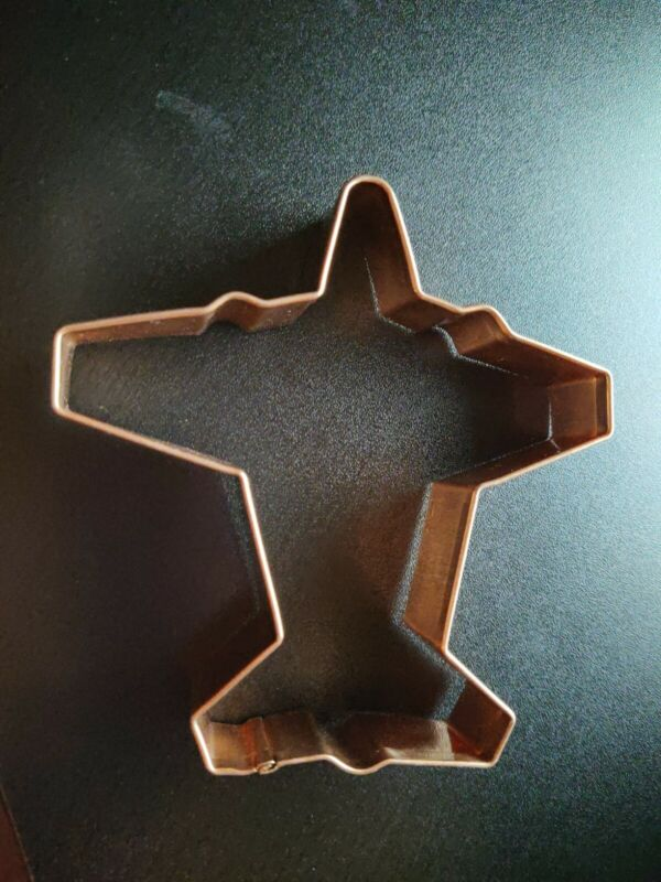 """NEW Wilton summer vacation airplane ~ 5"""" Cookie Cutter copper"""