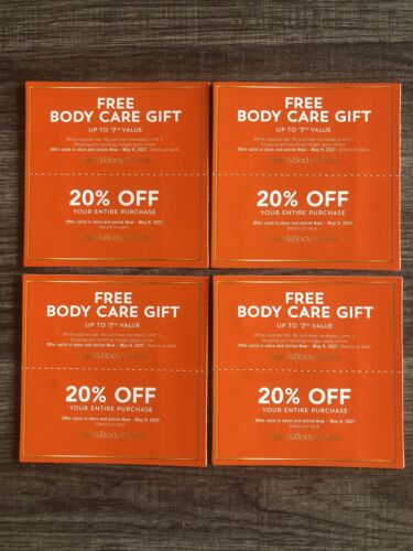 4 Sets Of Bath Body Works Coupons Expires 5/9/21 - $27.00
