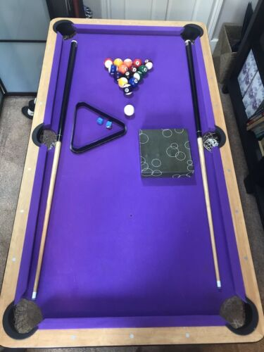 Pool Table BCE 5ft Folding Purple Baize Used Stylish