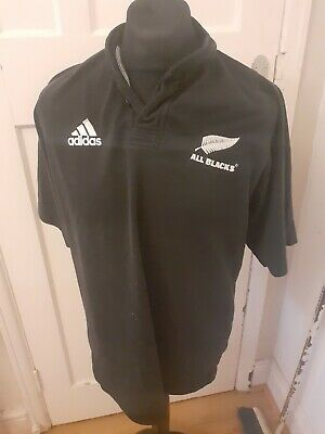 Adidas New Zealand All Blacks Rugby Union Shirt size Large L