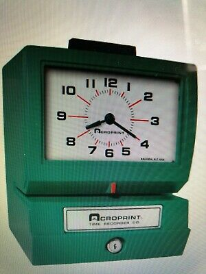 Acroprint Time Recorder Co. Model 125nr4 Time Clockbrand New In Box