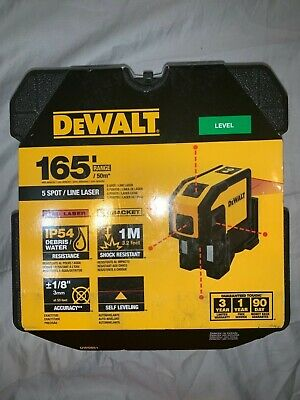 Dewalt Dw0851 Self Leveling 5 Spot And Horizontal Line Laser Level New Free Ship