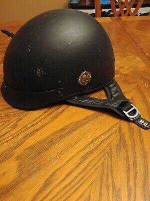 Harley Davidson Motorcycle Half Helmet Size Large 59-60cm Black Matte
