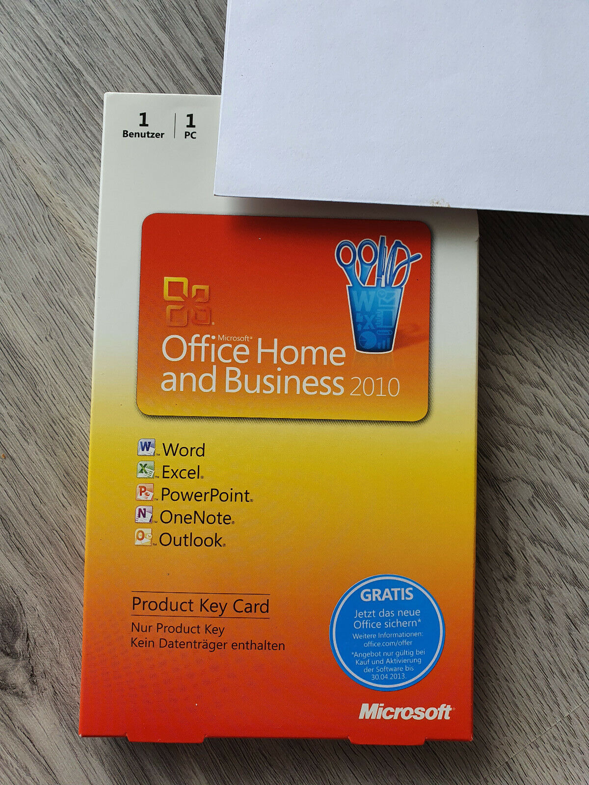 Microsoft Office 2010 Home and Business, Vollversion, 32/64 Bit, Key, 1 PC