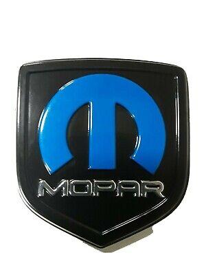 CHALLENGER CHARGER MOPART EMBLEM NAMEPLATE BADGE DECAL CHROME BLACK & BLUE