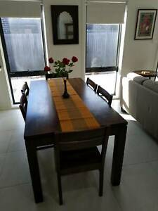 Dinning table, 6 chairs, solid wood, offers over $200 accepted