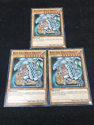All-3 Different Mint Artworks Blue-Eyes White Dragon 1st X 3 YUGIOH LDK2-ENK01