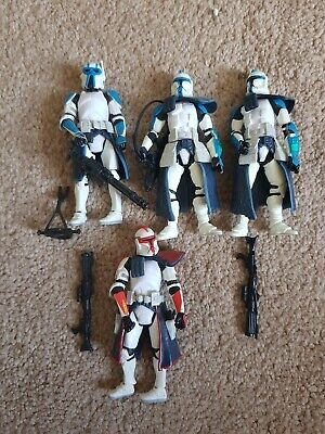 Star Wars Clone Captain Fordo & 3 Clone Troopers