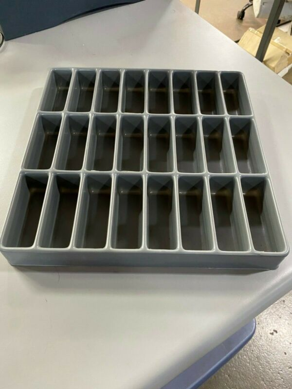 Plastic Bin Divider for Stanley Vidmar cabinets or other. 100 Trays in lot
