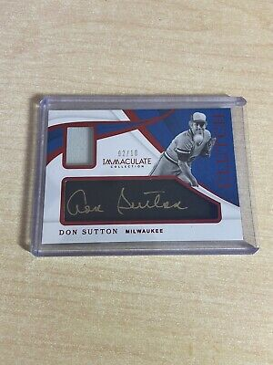 2019 Immaculate Baseball Don Sutton Jersey Auto /10 #4152