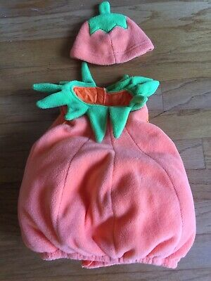 Old Navy Pumpkin Costume 18-24 months Overstuffed Fleece with Hat