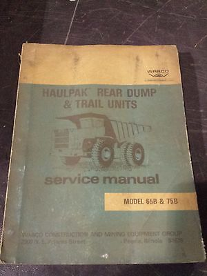 Wabco Model 65b75b Haulpak Rear Dump Trailer Units Service Manual