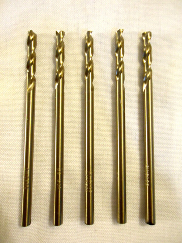 Drill Bits, #22 Cobalt, USA, Chicago Latrobe, 5 pc Lot, New/Other.