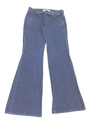 OLD NAVY WOMENS LOW RISE BOOT CUT DARK WASH DENIM JEANS SIZE 2P PETITE